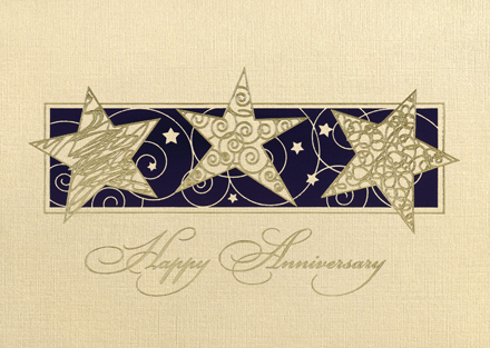 The Stars Are Out Tonight! Anniversary Card